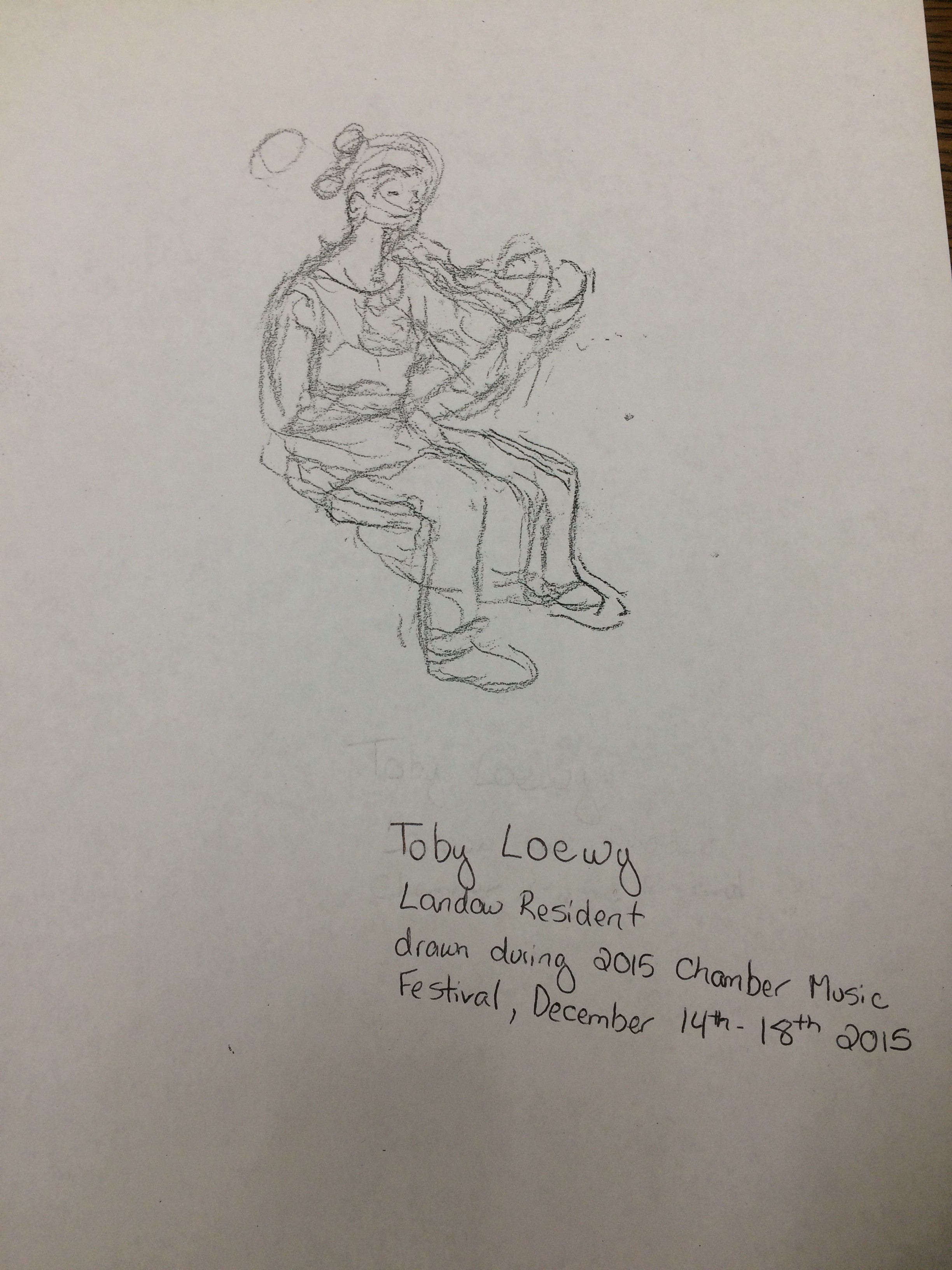 Toby Loewy'S drawing of a CMF performer
